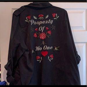 Torrid Plus Embroidered Twill Jacket